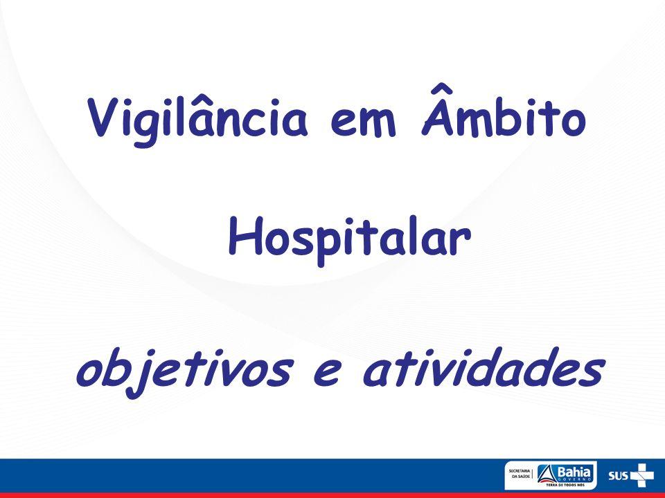 Vigilância em Âmbito Hospitalar objetivos e atividades