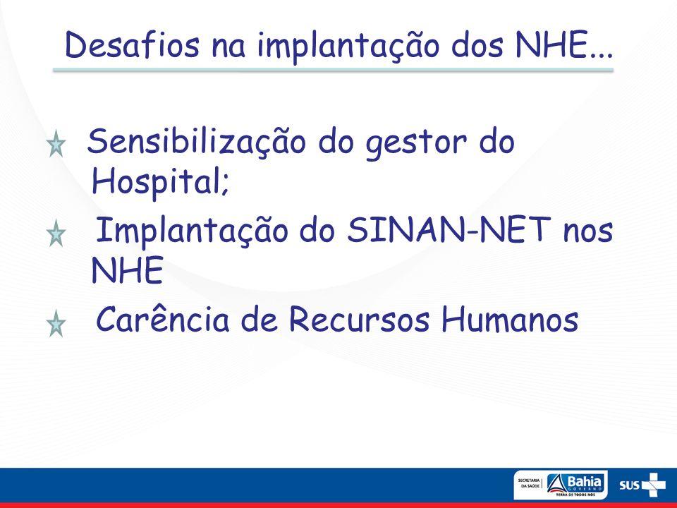 Desafios na implantação dos NHE...