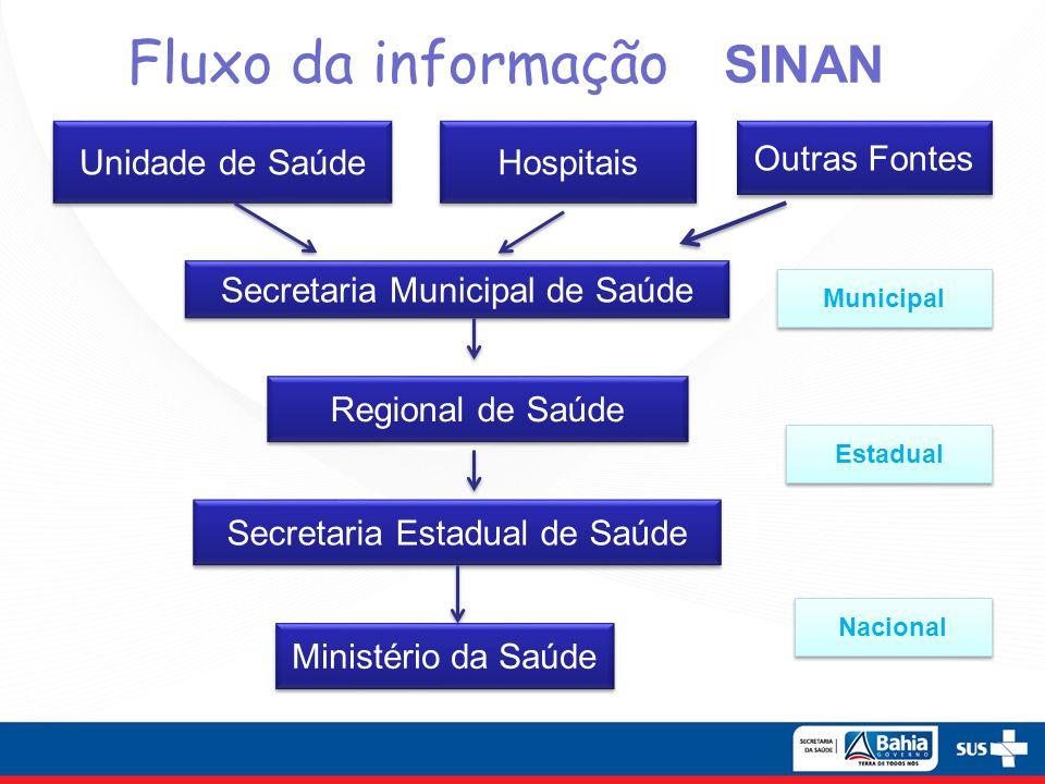 Fluxo da informação SINAN