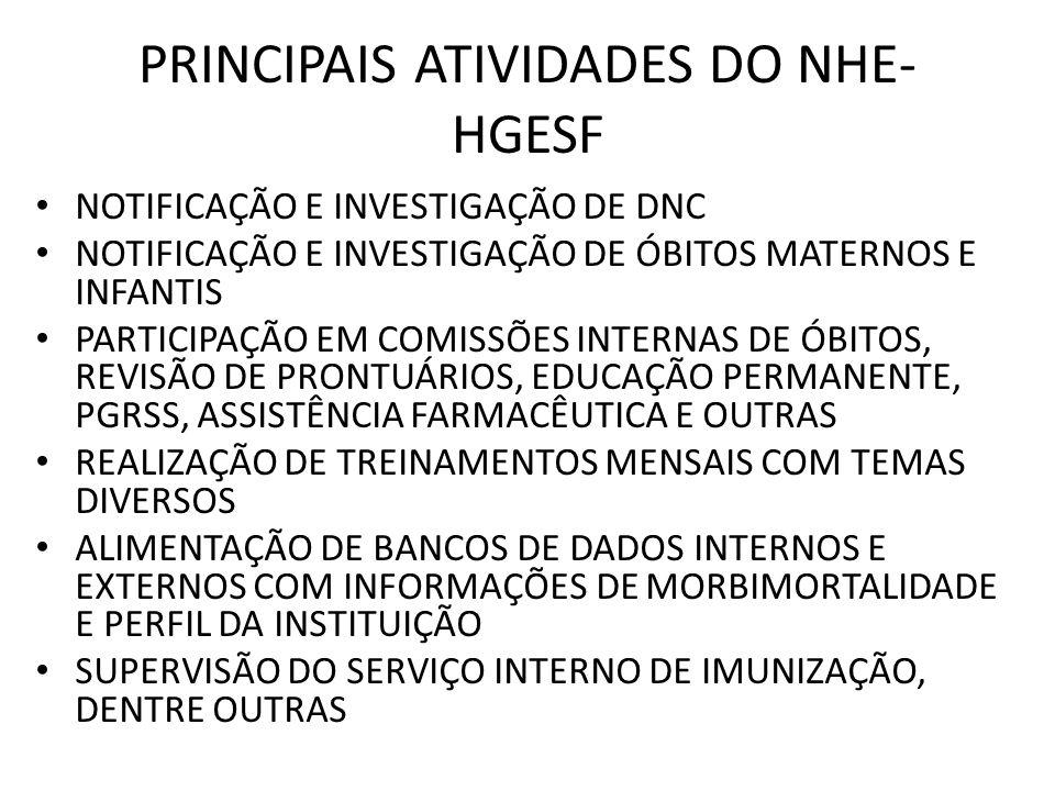 PRINCIPAIS ATIVIDADES DO NHE-HGESF