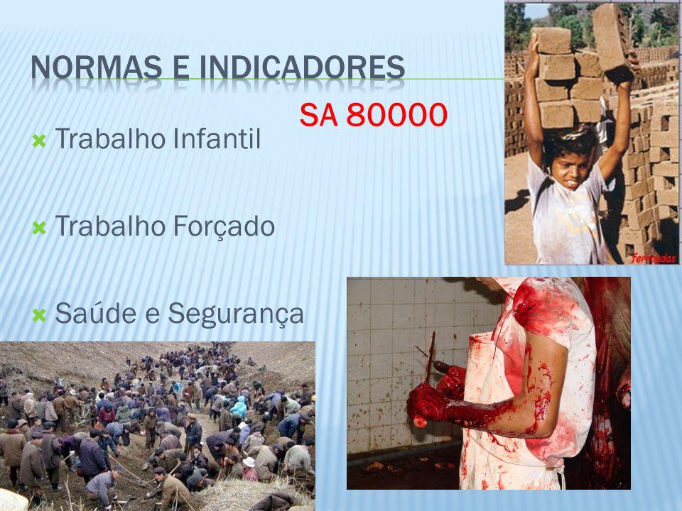 Normas e Indicadores SA 80000 Trabalho Infantil Trabalho Forçado