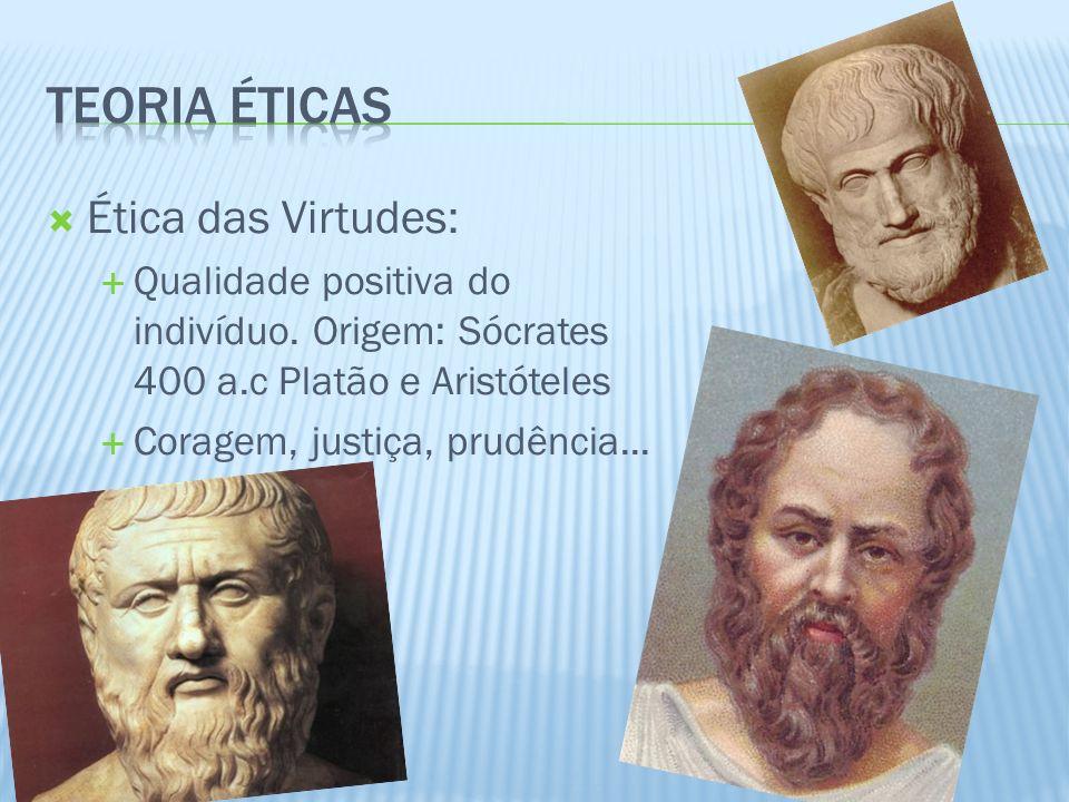 Teoria éticas Ética das Virtudes: