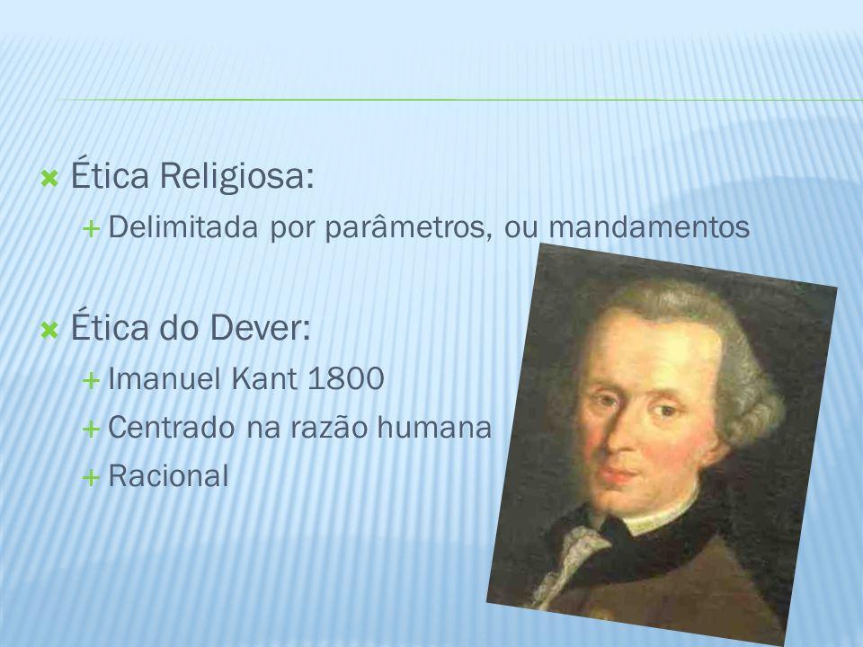 Ética Religiosa: Ética do Dever: