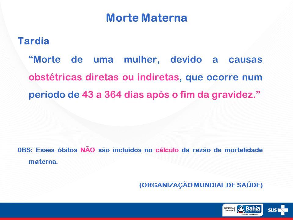 Morte Materna Tardia.
