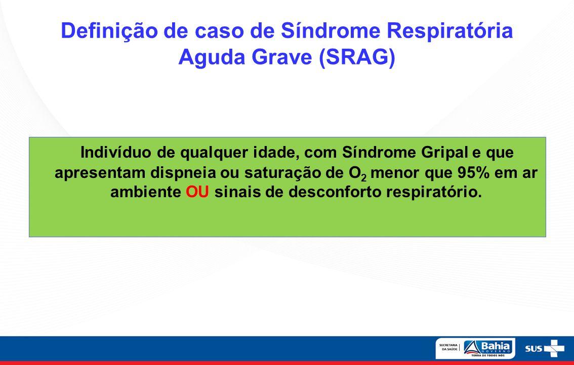 Definição de caso de Síndrome Respiratória Aguda Grave (SRAG)