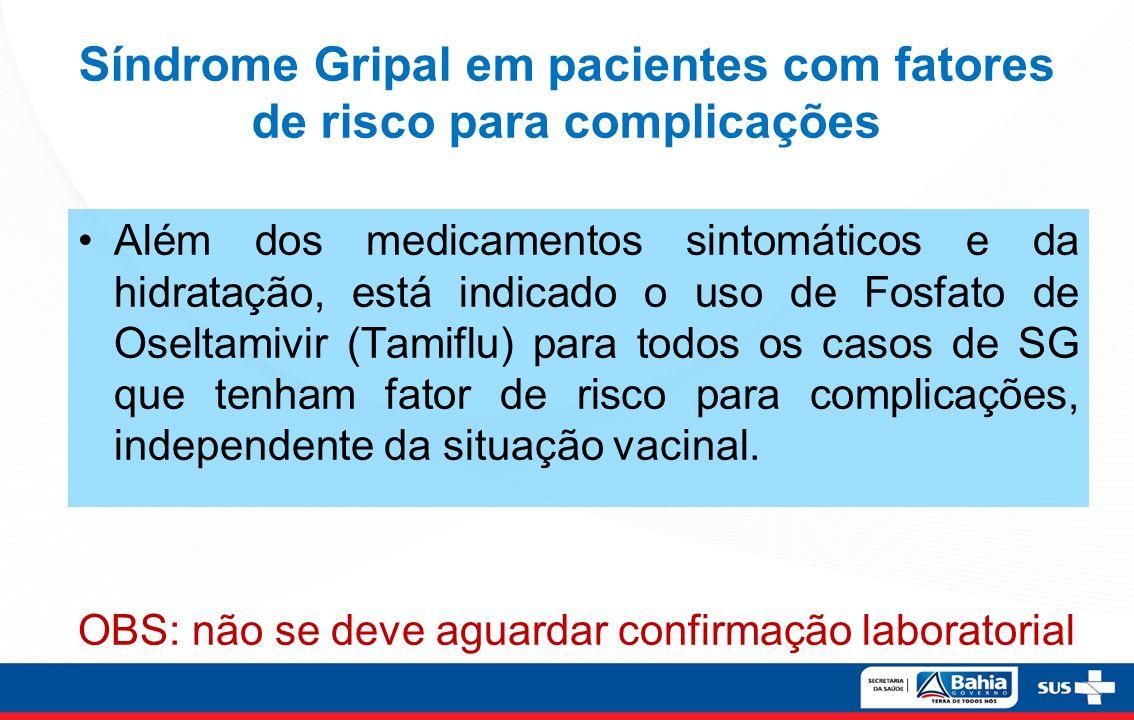 Síndrome Gripal em pacientes com fatores de risco para complicações