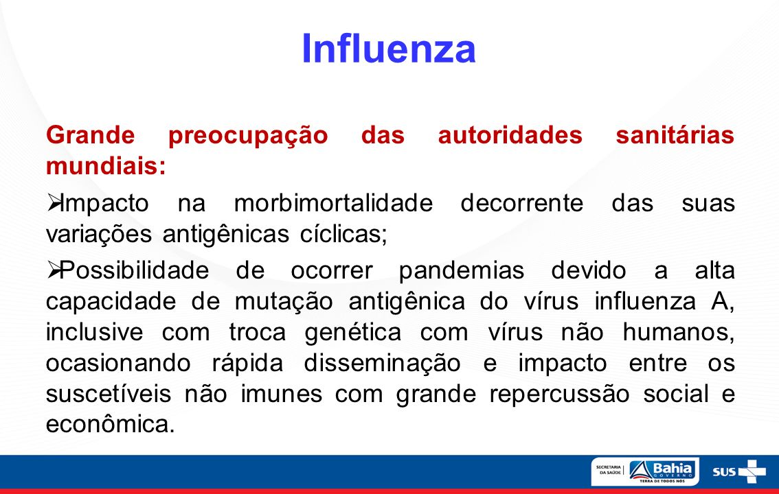 Influenza Grande preocupação das autoridades sanitárias mundiais: