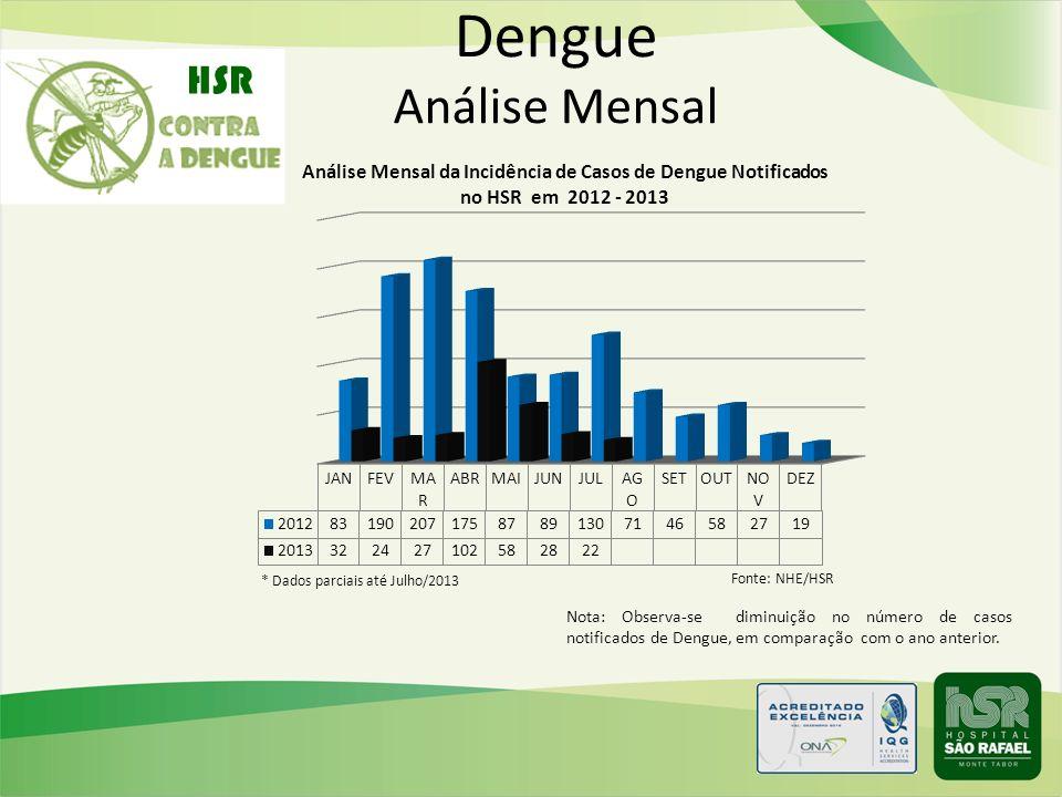 Dengue Análise Mensal HSR