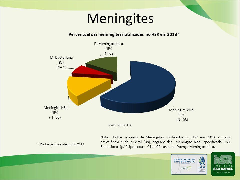 Meningites Fonte: NHE / HSR.