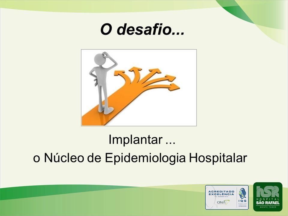 Implantar ... o Núcleo de Epidemiologia Hospitalar