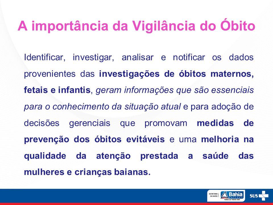 A importância da Vigilância do Óbito
