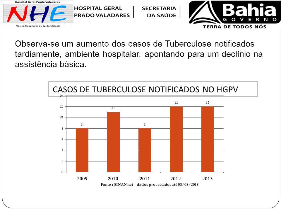 Fonte : SINAN net - dados processados até 08/08/2013