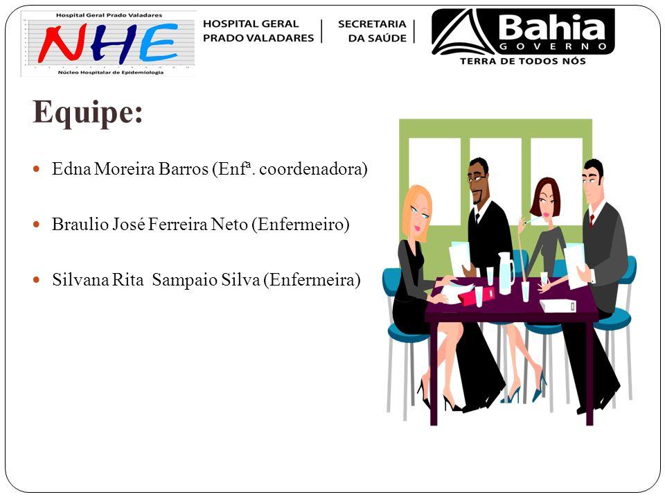 Equipe: Edna Moreira Barros (Enfª. coordenadora)