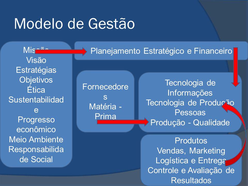 Modelo de Gestão Missão Planejamento Estratégico e Financeiro Visão