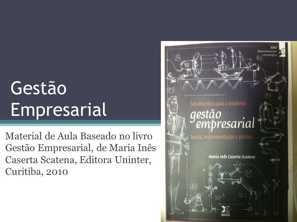 Gestão Empresarial Material de Aula Baseado no livro Gestão Empresarial, de Maria Inês Caserta Scatena, Editora Uninter, Curitiba, 2010.
