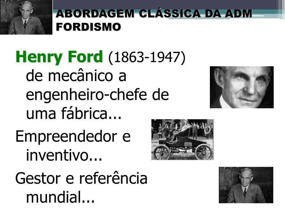 Empreendedor e inventivo... Gestor e referência mundial...