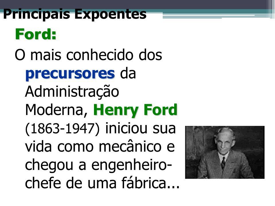 Principais Expoentes Ford: