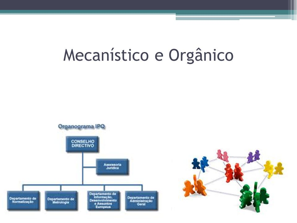Mecanístico e Orgânico