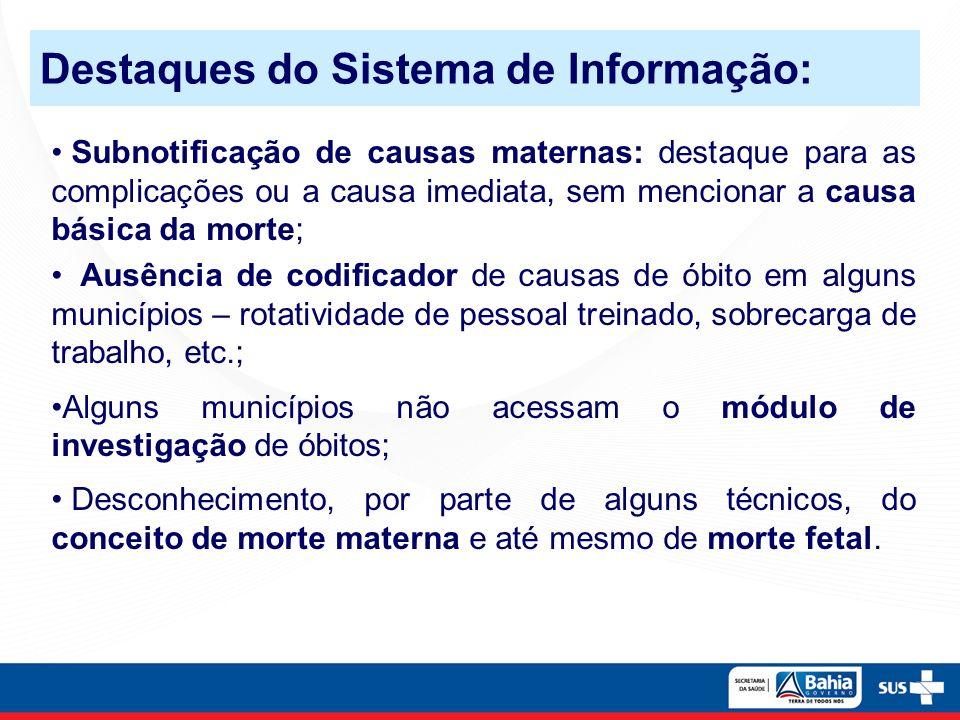 Destaques do Sistema de Informação: