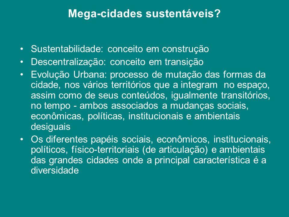 Mega-cidades sustentáveis