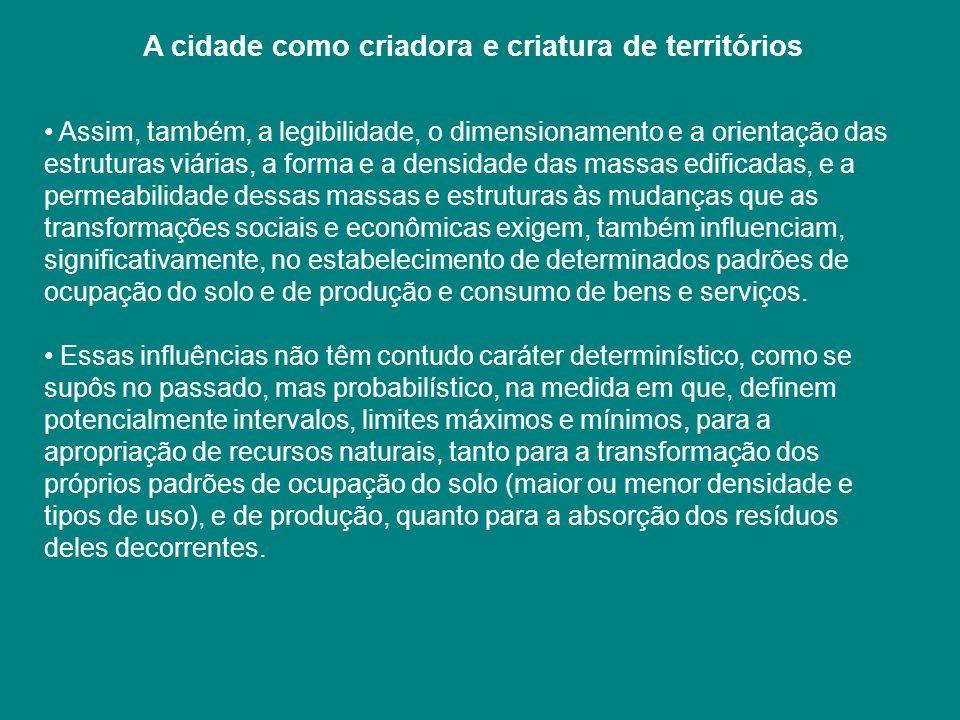 A cidade como criadora e criatura de territórios