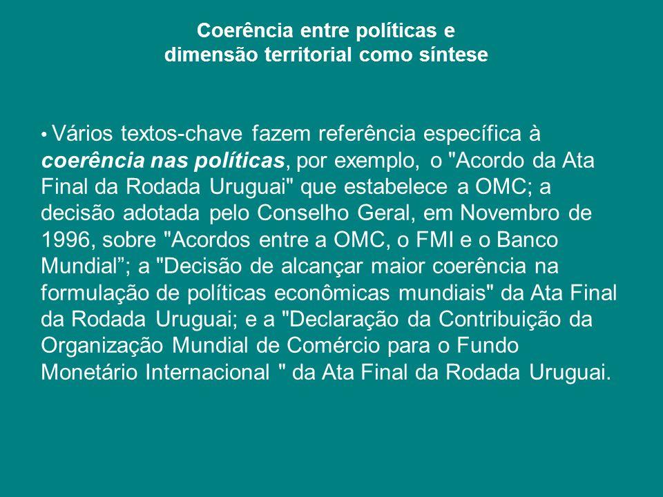 Coerência entre políticas e dimensão territorial como síntese