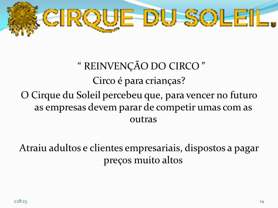 REINVENÇÃO DO CIRCO Circo é para crianças