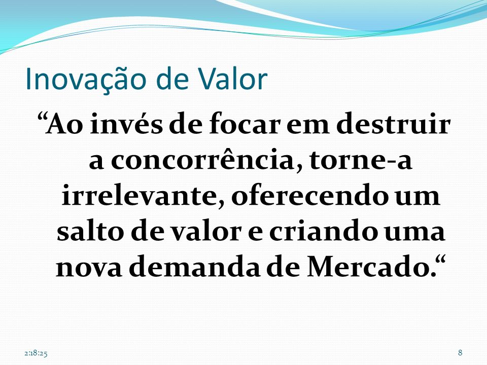 26/03/2017 Inovação de Valor.