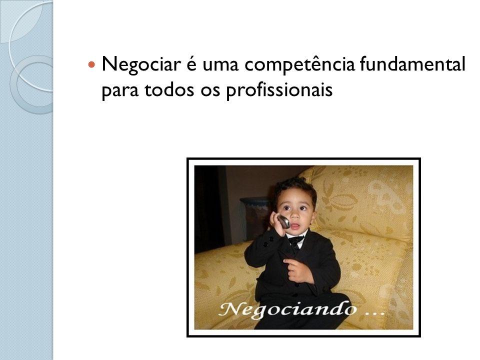 Negociar é uma competência fundamental para todos os profissionais