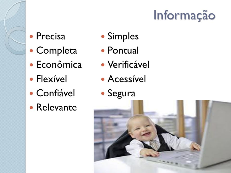 Informação Precisa Simples Completa Pontual Econômica Verificável