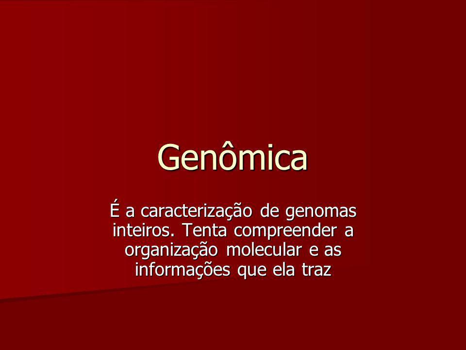 Genômica É a caracterização de genomas inteiros.