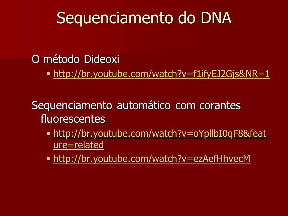 Sequenciamento do DNA O método Dideoxi