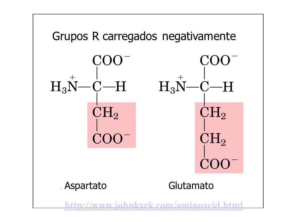Grupos R carregados negativamente