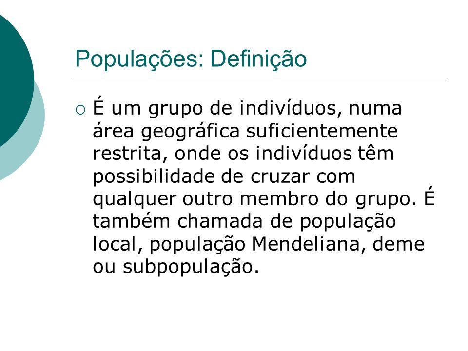 Populações: Definição