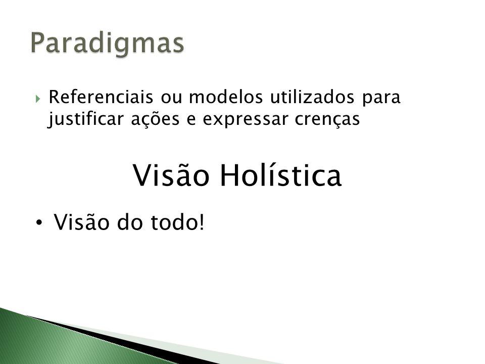 Visão Holística Paradigmas Visão do todo!