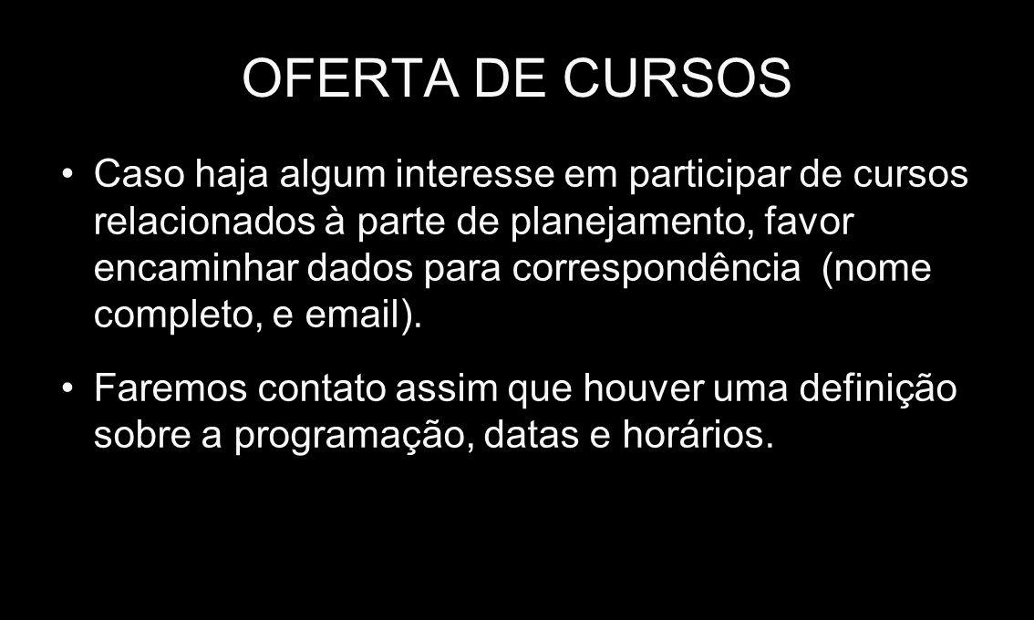 OFERTA DE CURSOS