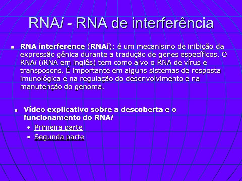 RNAi - RNA de interferência