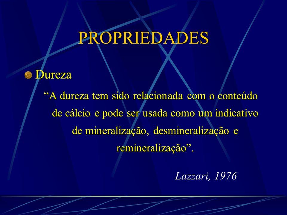PROPRIEDADES Dureza.
