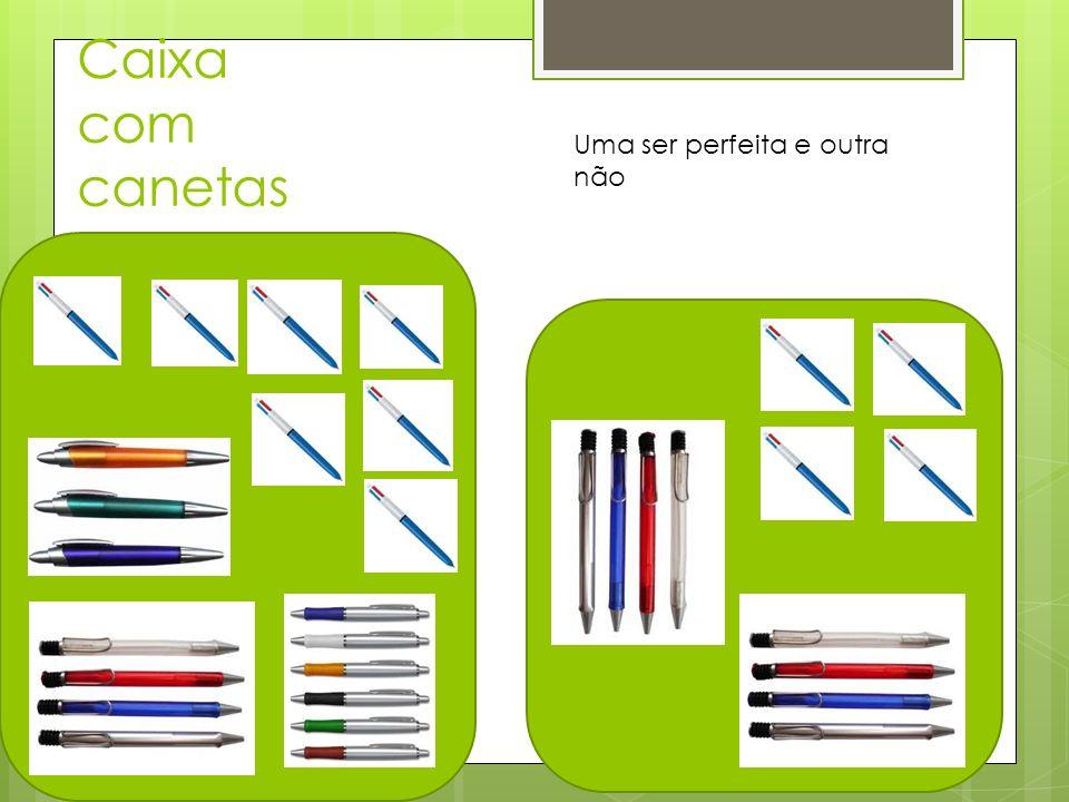 Caixa com canetas Uma ser perfeita e outra não