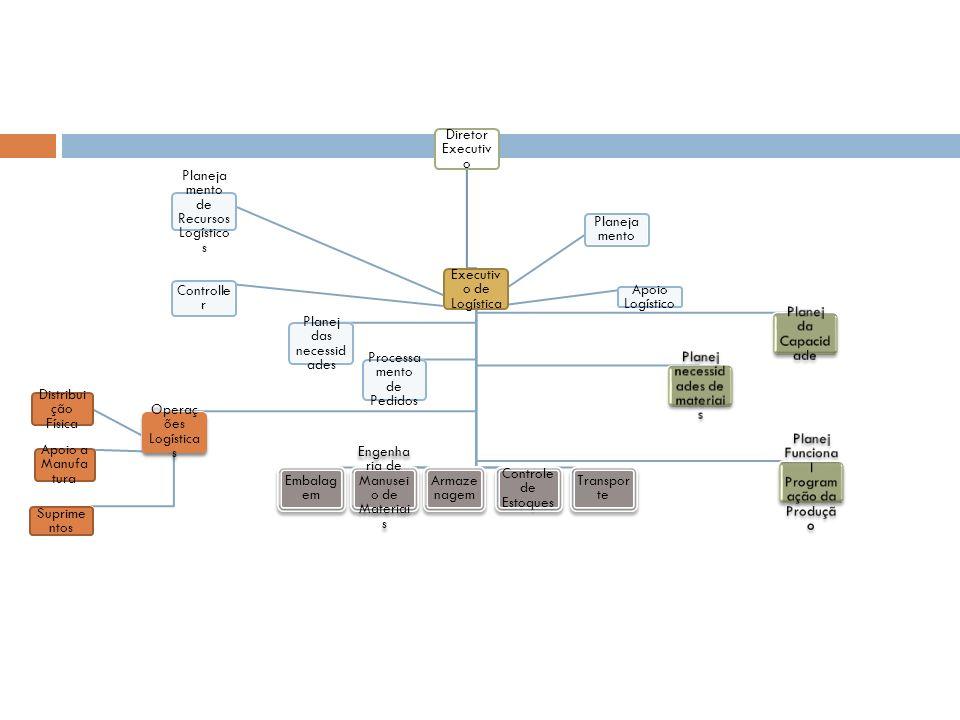 Executivo de Logística Planejamento Controller Apoio Logístico