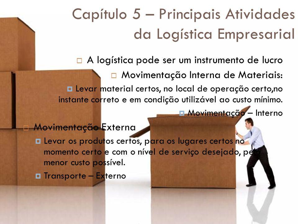 Capítulo 5 – Principais Atividades da Logística Empresarial