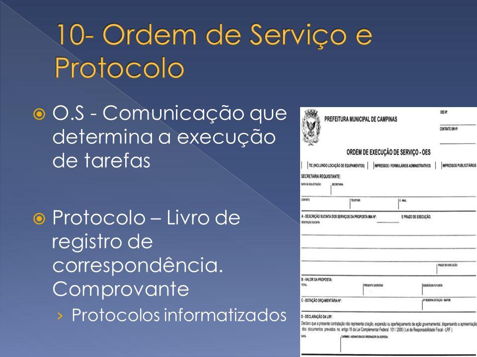 10- Ordem de Serviço e Protocolo