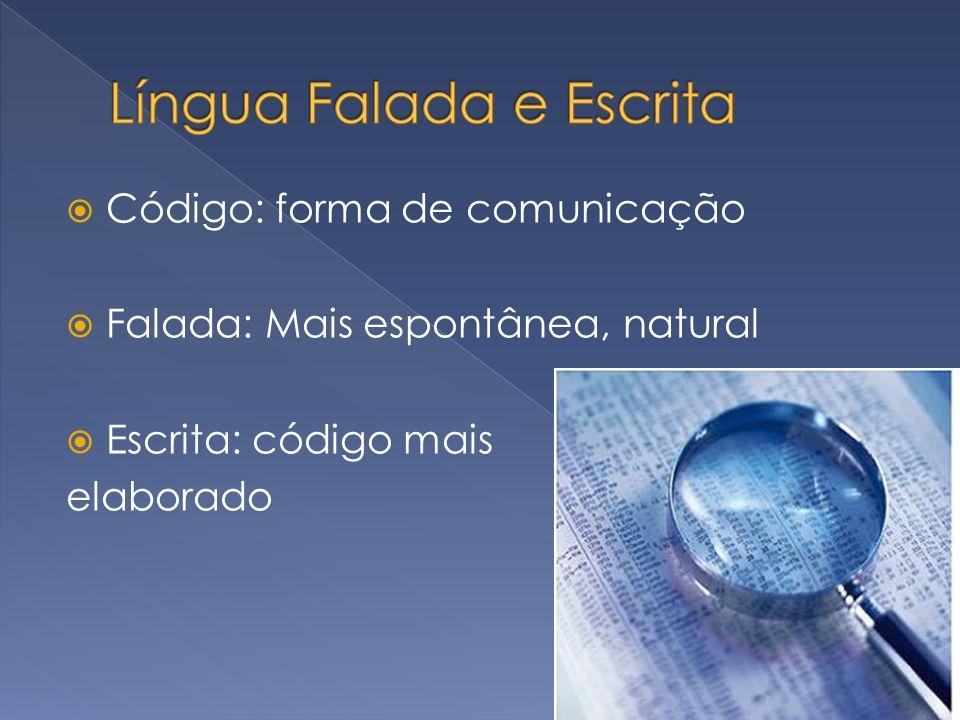 Língua Falada e Escrita