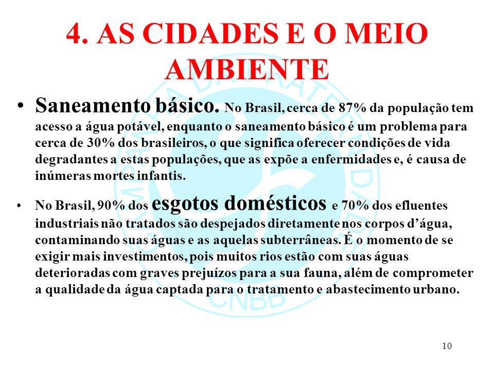 4. AS CIDADES E O MEIO AMBIENTE
