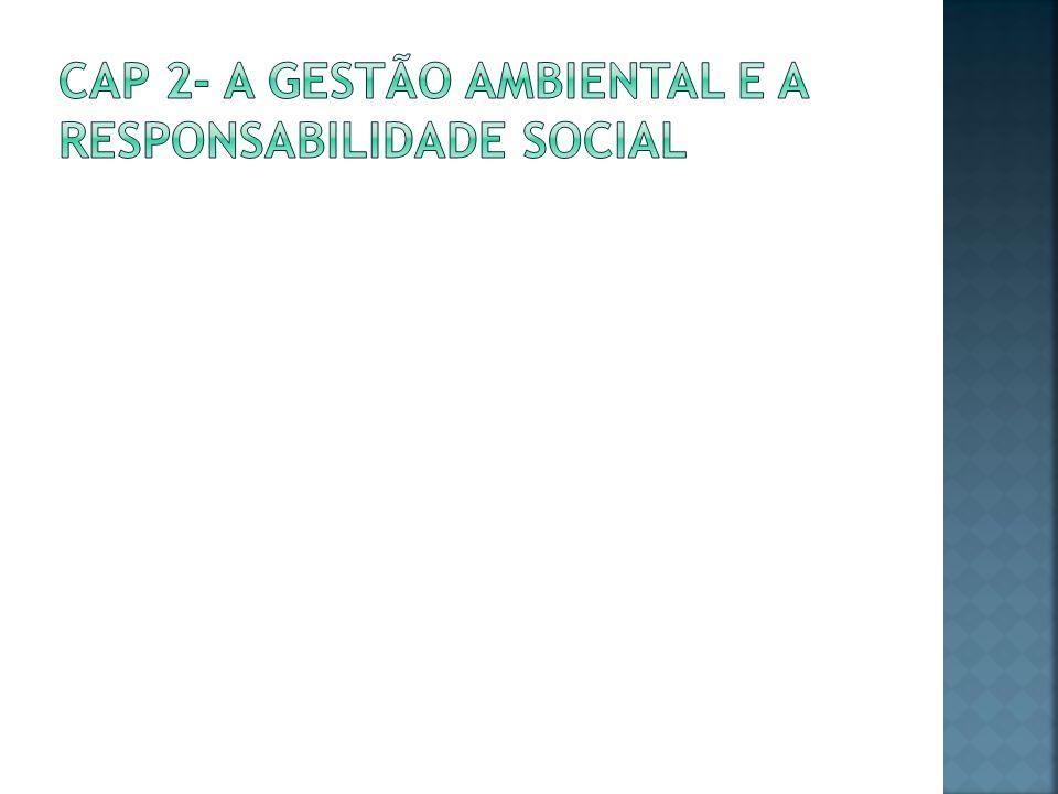 Cap 2- A gestão ambiental e a Responsabilidade Social