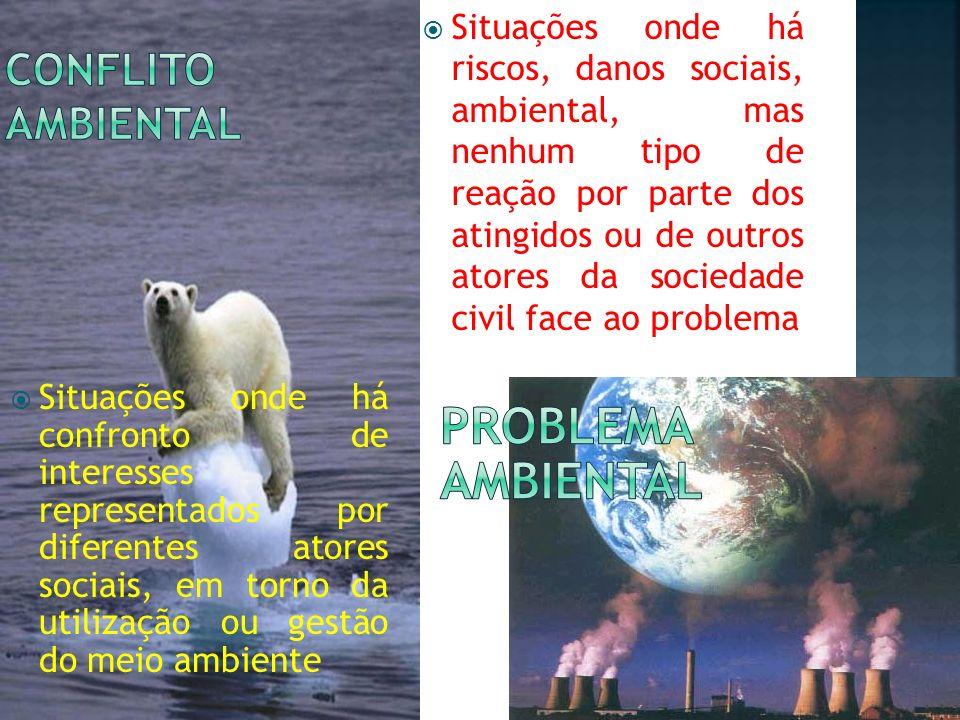 problema ambiental Conflito ambiental