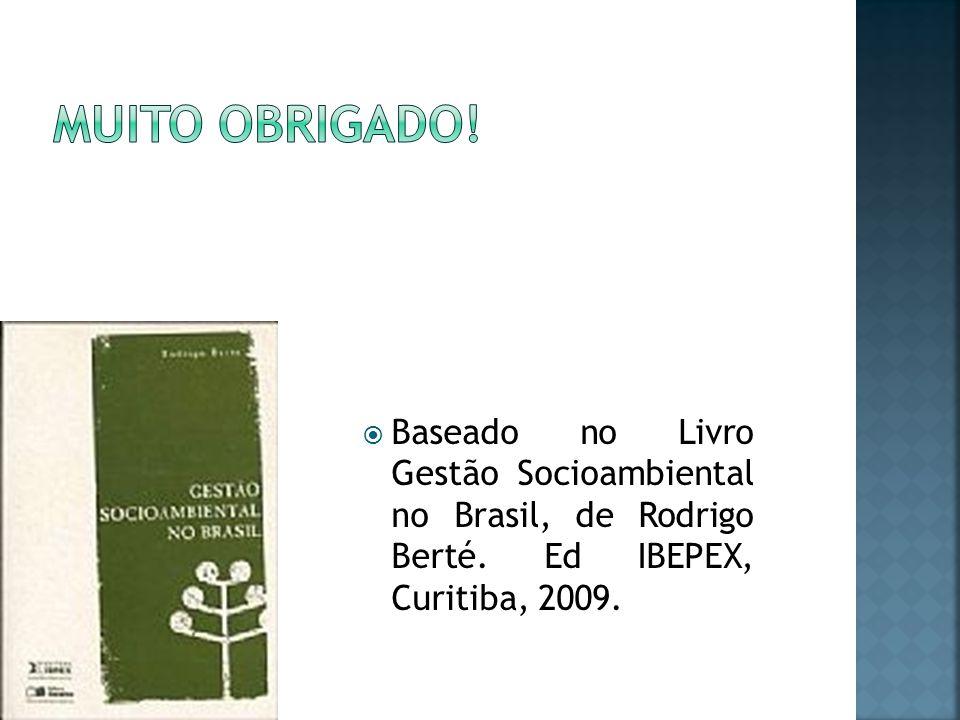 Muito obrigado. Baseado no Livro Gestão Socioambiental no Brasil, de Rodrigo Berté.