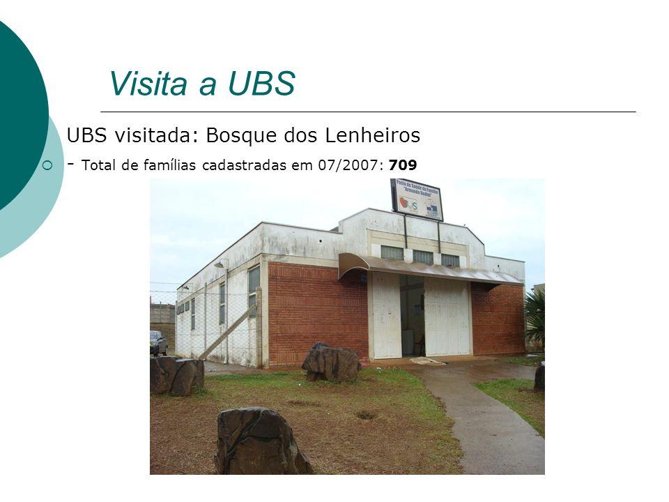 Visita a UBS UBS visitada: Bosque dos Lenheiros