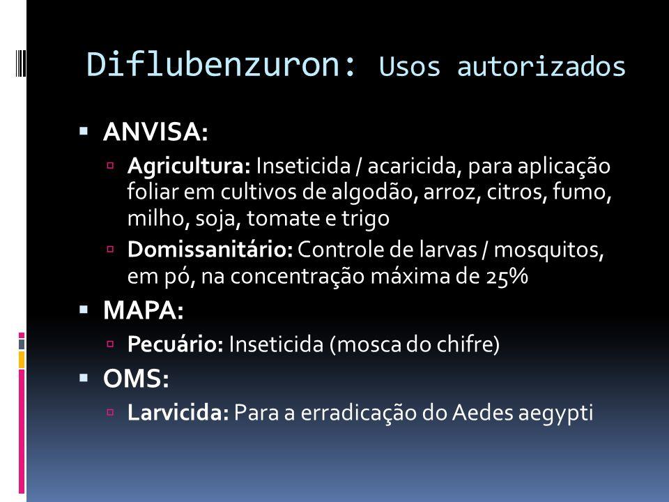 Diflubenzuron: Usos autorizados