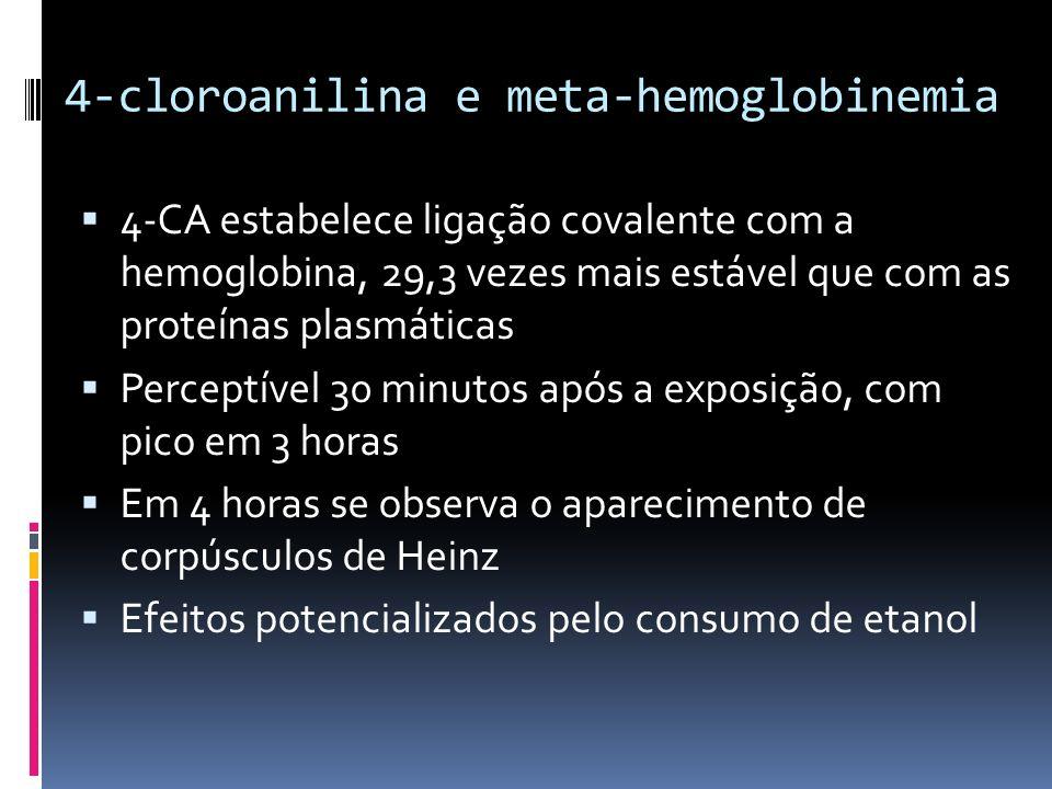 4-cloroanilina e meta-hemoglobinemia
